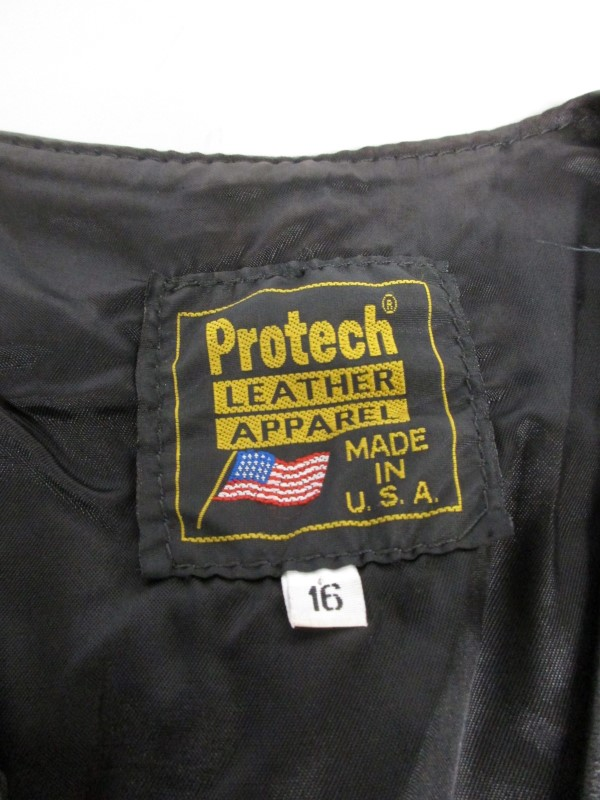 PROTECH WOMEN'S BLACK LEATHER VEST, SIZE 16