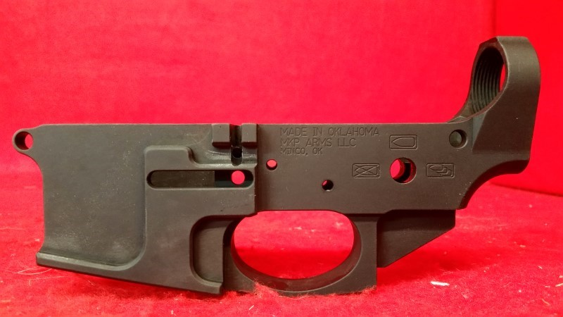 MKP Arms Stripped AR Billet Lower Receiver - Made in Oklahoma