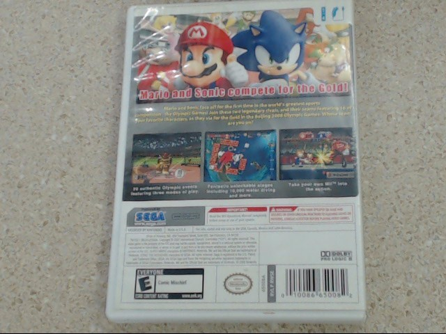 MARIO & SONIC AT THE OLYMPIC GAMES - WII GAME