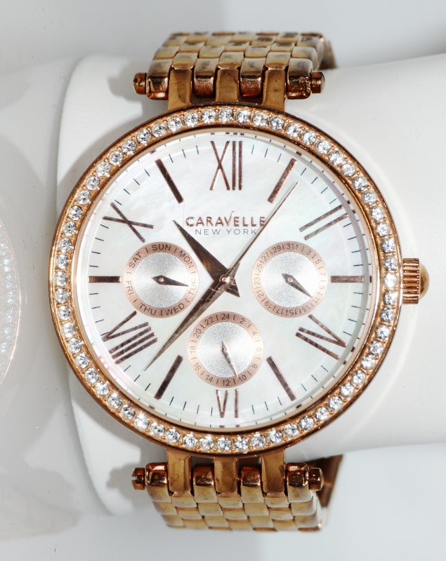 Caravelle by Bulova Rose-Gold Toned Chrono Women's Watch 44N101