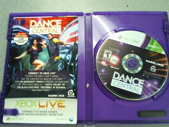 MICROSOFT Microsoft XBOX 360 Game DANCE CENTRAL (KINECT)