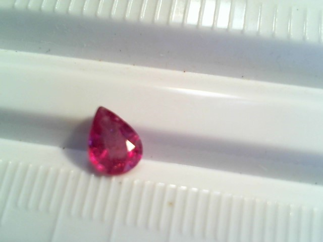 Ruby African .70ct Pear