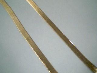 """20"""" Gold Herringbone Chain 14K Yellow Gold 6.4g"""