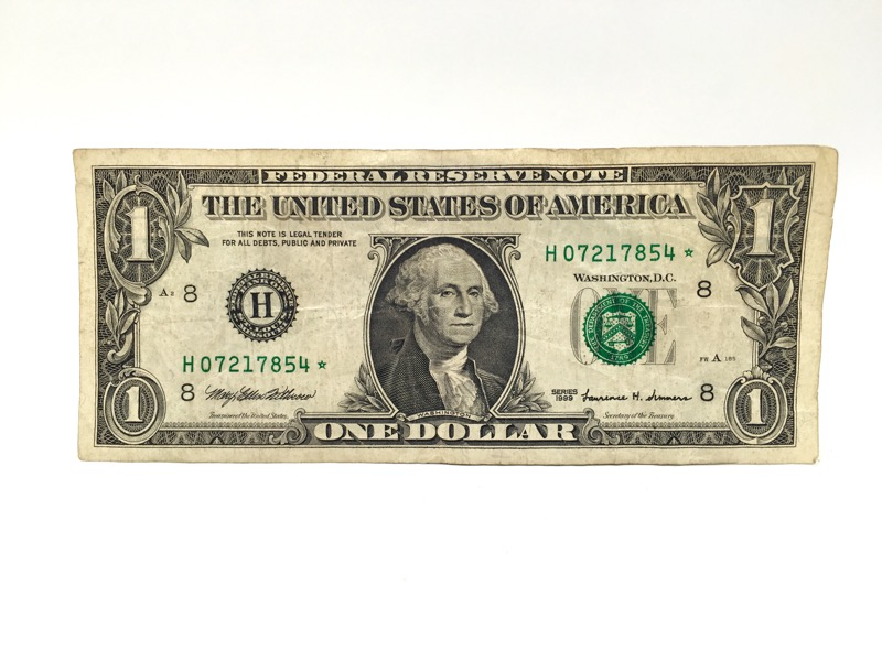 1999 $1 Dollar STAR Note - H St. Louis Serial No. -