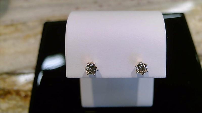 14k yellow gold 1/2cttw round diamond stud earrings