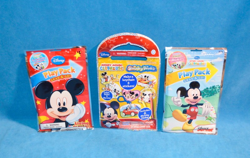 DISNEY MICKEY MOUSE CLUBHOUSE PLAY PACK GRAB & GO/ SHRINKY DINKS