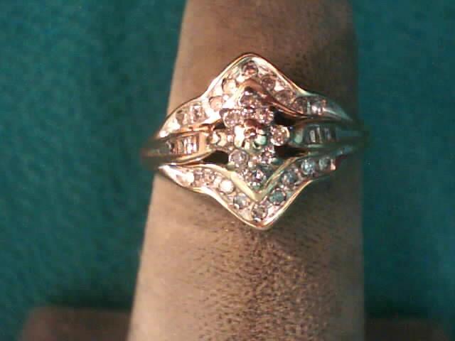 Lady's Diamond Fashion Ring 26 Diamonds .130 Carat T.W. 10K Yellow Gold 1.4dwt