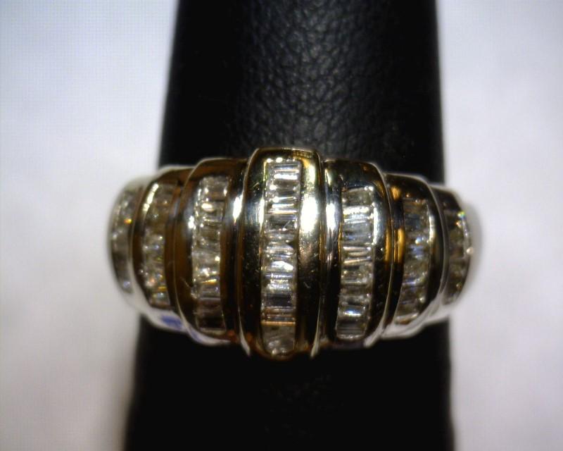 Lady's Diamond Cluster Ring 55 Diamonds .55 Carat T.W. 14K White Gold 3dwt