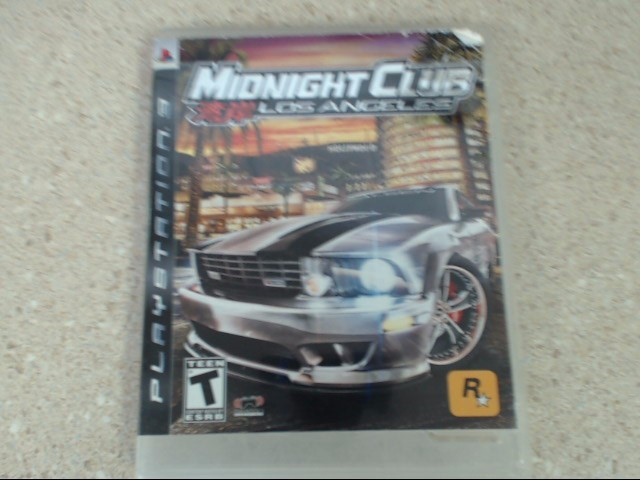 MIDNIGHT CLUB LOS ANGELES - PLAYSTATION 3 GAME