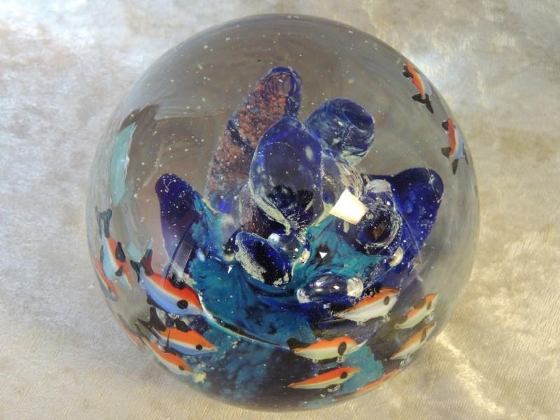 MID CENTURY MODERN MURANO Style Glass FISH Sculpture AQUARIUM PAPERWEIGHT