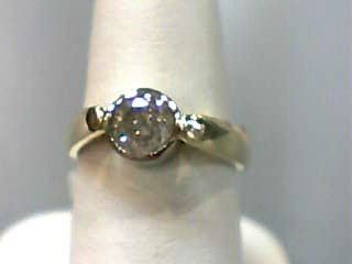 Lady's Diamond Engagement Ring .71 CT. 14K 2 Tone Gold 3.6dwt Size:5.7
