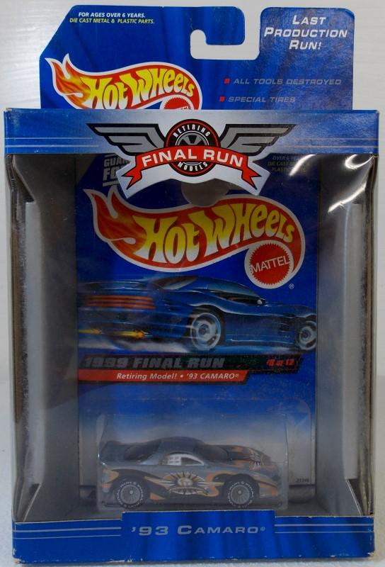 1999 FINAL RUN HOT WHEELS, MISSING NUMBER 5