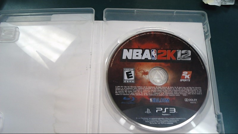 SONY Sony PlayStation 3 Game NBA 2K12 - PS3
