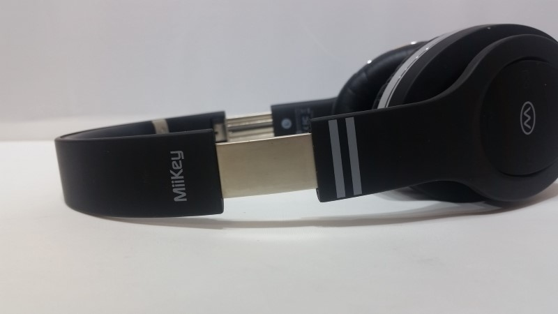 MiiKey Rhythm By Mika Black & Chrome Wireless Bluetooth Headphones