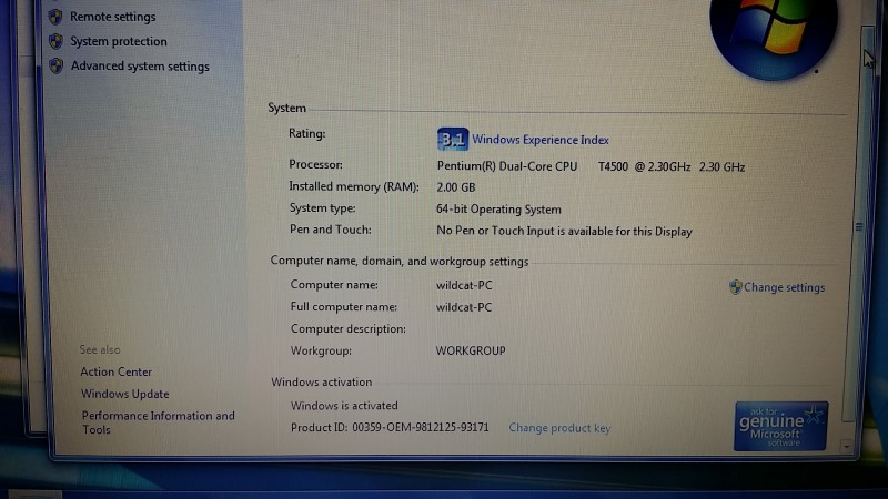 DELL LAPTOP INSPIRON 1545 dual core