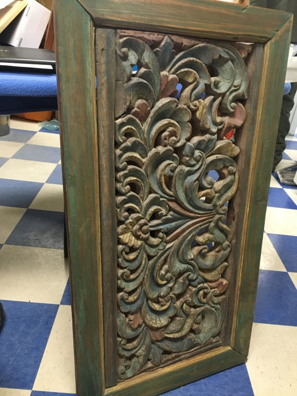 HANDCRAFTED WOODEN CARVING AND FRAME