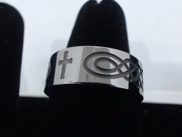 Gent's Ring Silver Tungsten 15.4g