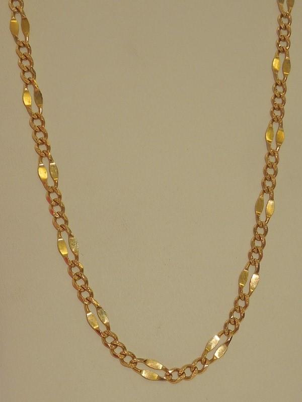 Gold Figaro Chain 14K Yellow Gold 12.2g