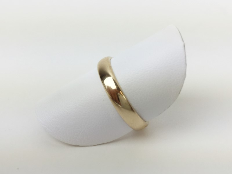 Gold Wedding Band 14K Yellow Gold 3.22g Size 8 1/4