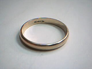 Gent's Gold Wedding Band 14K Yellow Gold 3.9g Size:12.5