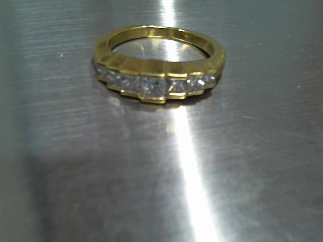 Lady's Gold-Diamond Anniversary Ring 7 Diamonds .70 Carat T.W. 18K Yellow Gold
