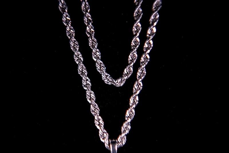 Gold Fashion Chain 14K White Gold 8.3g
