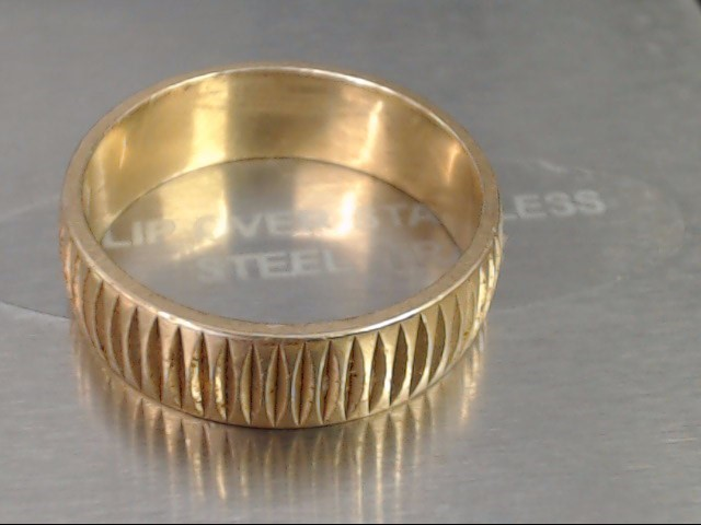 Gent's Gold Wedding Band 14K Yellow Gold 6g Size:10