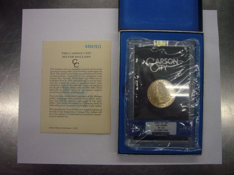 UNITED STATES Silver Coin MORGAN DOLLAR 1884 CC MS 63