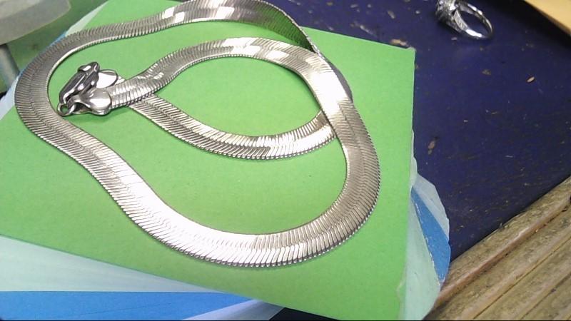 Silver Herringbone Chain 925 Silver 15.3g