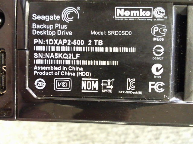 SEAGATE Computer Accessories SRD0SD0