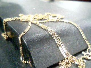 18K YG Gold Figaro Chain FIGARO LINK 18K Yellow Gold 4g