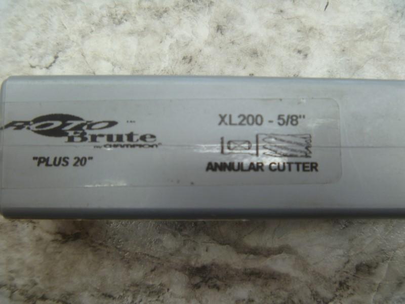 CHAMPION XL200-5/8 INCH DIAMETER 2-INCH DEPTH HIGH SPEED STEEL ANNULAR CUTTER