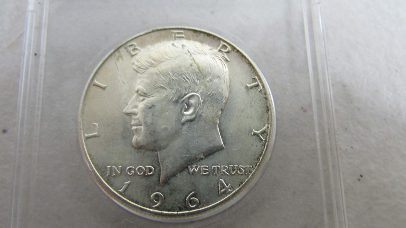 UNITED STATES Silver Coin 1964 KENNEDY HALF DOLLAR