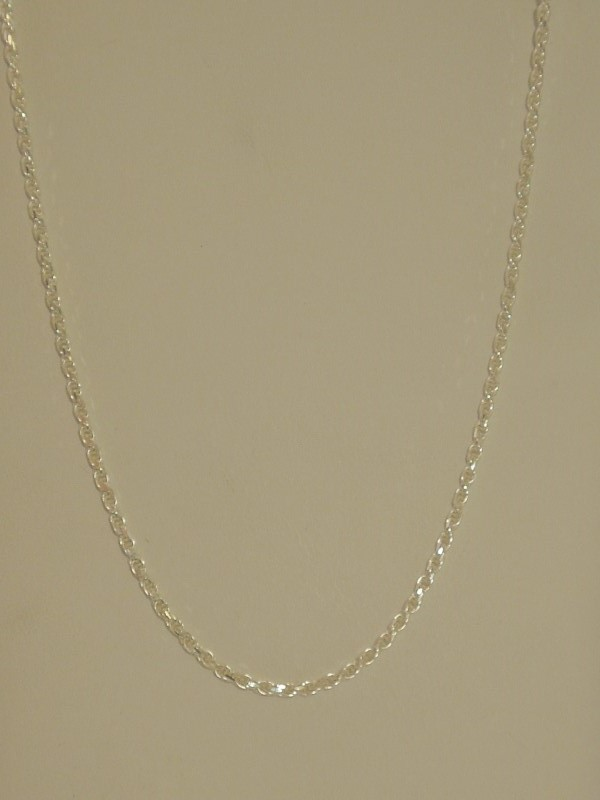 """16"""" Silver Rope Chain 925 Silver 6.2g"""