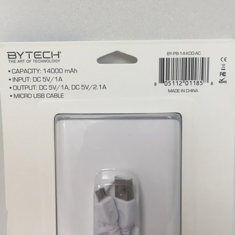 BYTECH Cell Phone Accessory POWER BANK 14000MAH