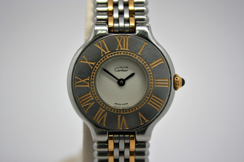 CARTIER LADY'S WATCH MUST DE 21 TWO-TONE