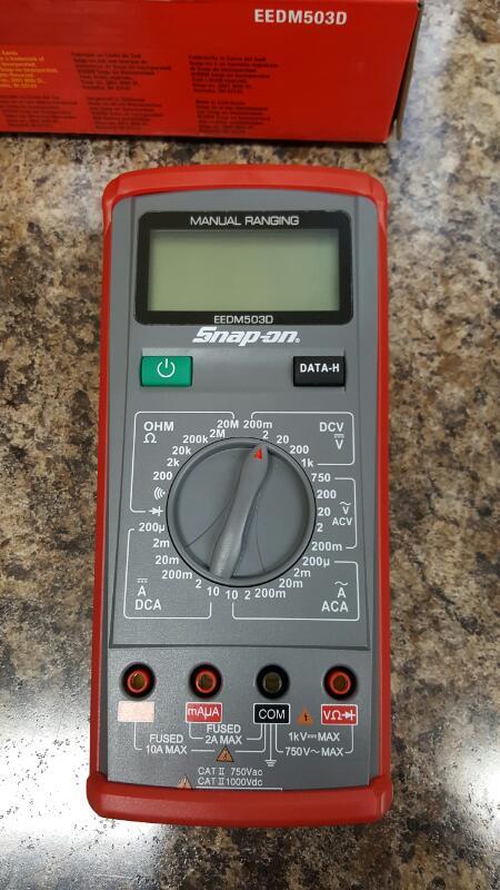 Snap On Multimeter : Snap on eedm d digital multimeter multi meter like new