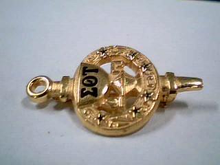 Gold Brooch 10K Yellow Gold 2.8g