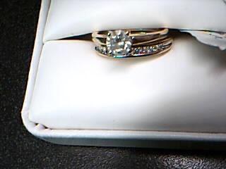 Lady's Diamond Wedding Set 13 Diamonds .62 Carat T.W. 14K Yellow Gold 4.56g