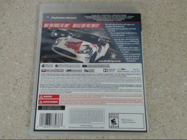NEED FOR SPEED RIVALS - PLAYSTATION 3 GAME