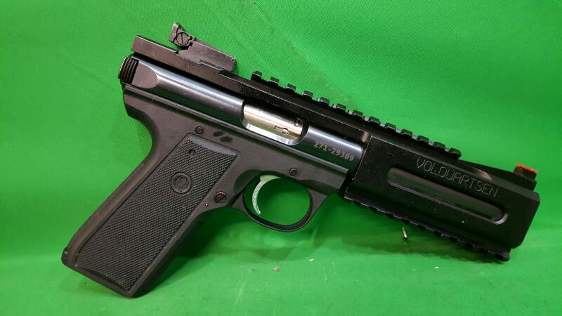 RUGER Pistol 22/45 MK III w/Volquartsen Rail