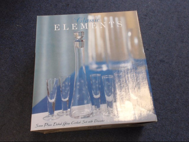 CLASSIC ELEMENTS 7 PIECE CORDIAL SET