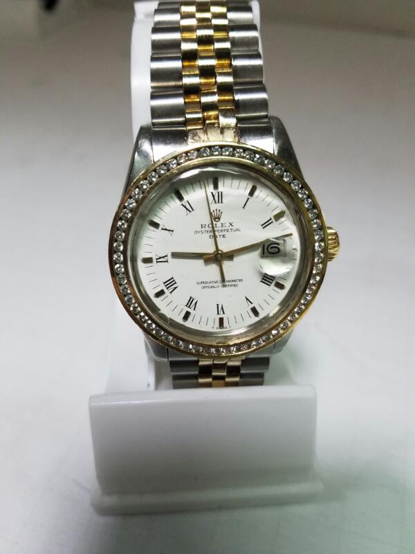 ROLEX Gent's Wristwatch 16233 STEEL & GOLD OYSTER PERPETUAL DATEJUST