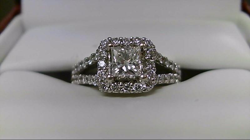 Lady's Diamond Wedding Band 45 Diamonds 1.47 Carat T.W. 18K White Gold 4.2g
