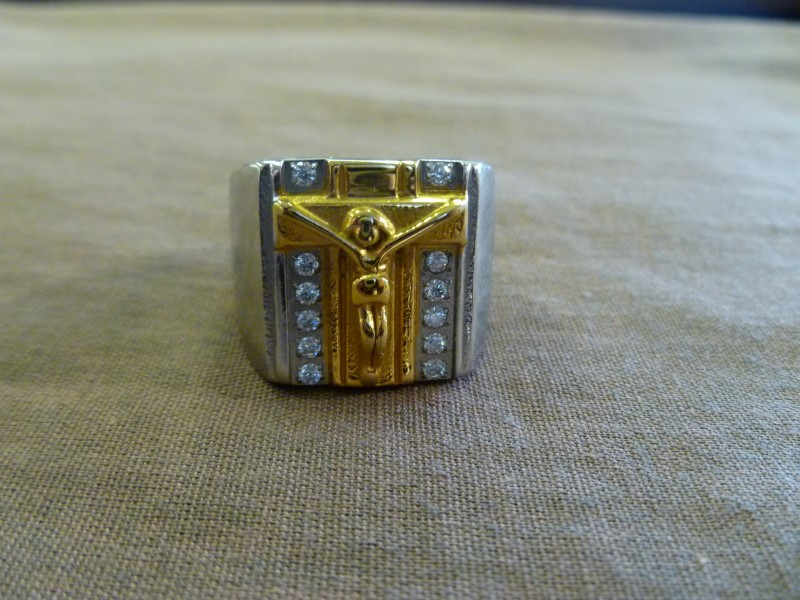 MEN'S STAINLESS TWO TONE RING
