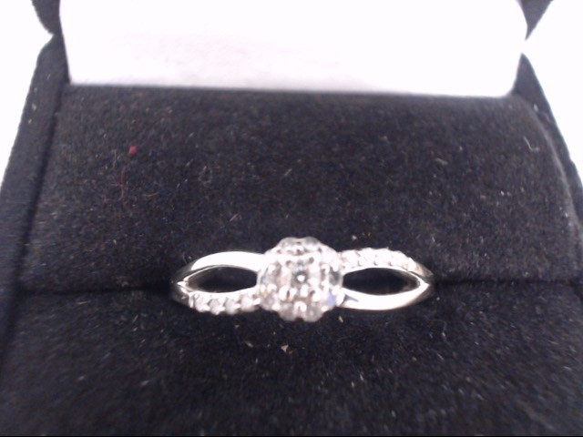 Lady's Diamond Cluster Ring .07 CT. 10K Yellow Gold 1.9g