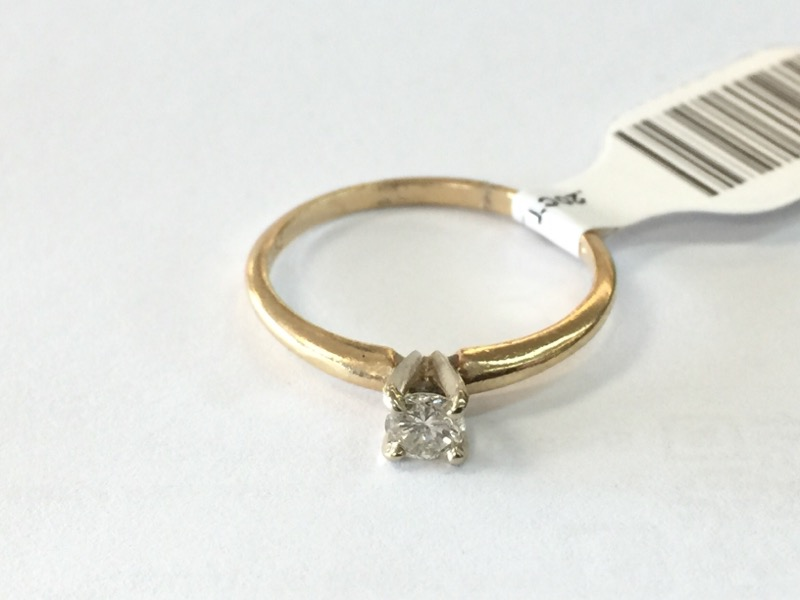 .20CT_ROUND Lady's Diamond Solitaire Ring SOLITAIRE_ENG. .20 CT.