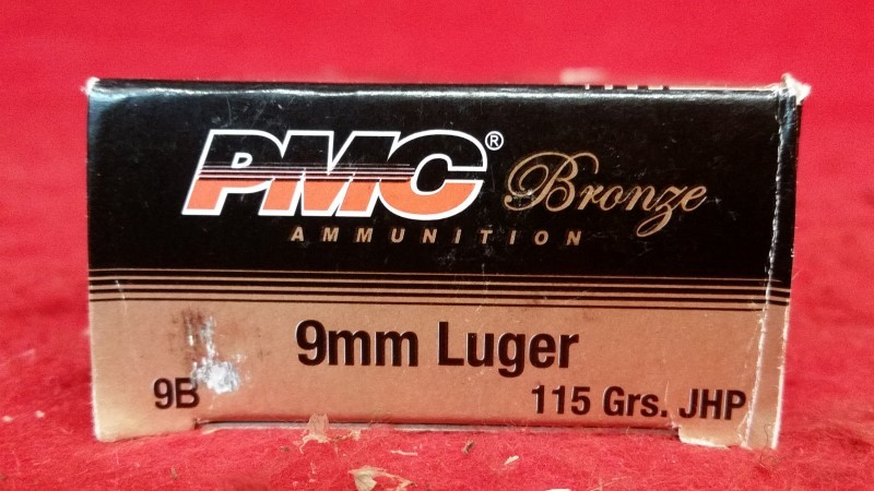 PMC 9mm 115gr JHP Ammo - 50 Rounds