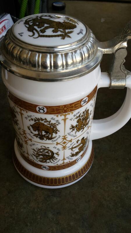 German ZODIAC  Glassware BEER STEIN