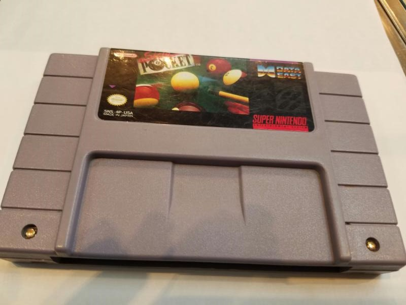 Nintendo SNES Game - SUPER NINTENDO - Side Pocket